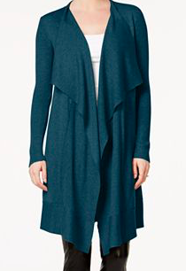 kensie Open-Front Waterfall Cardigan